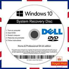 Dell Windows 10 Home & Professional Recovery Repair Install Boot Disc Software