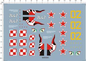 1-72-Scale-Antonov-AN-2-Colt-74-47-Model-kit-Eye-Shark-Jaw-Water-Slide-Decal
