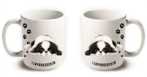 JAPANESE CHIN Spaniel Dog Breeds Hashtag Mugs Animal Funny Pet Gift Coffee Tea