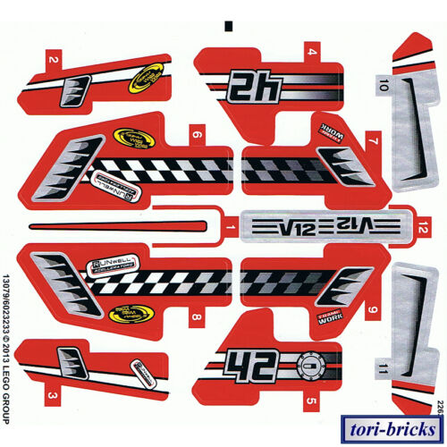 Lego Technik Aufkleber zum 42011 Action Rennwagen »NEU«