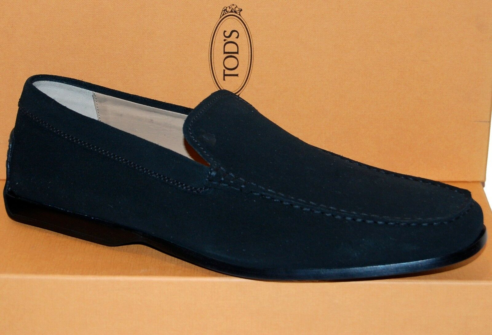 TOD'S  Black Loafer Men's Suede shoes Size US 11.5 EU 10.5 Good for Saze US 12