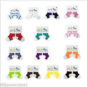 2 Pack Babies Sock Ons Sock Keepers All Colours /& Sizes Available You Choose
