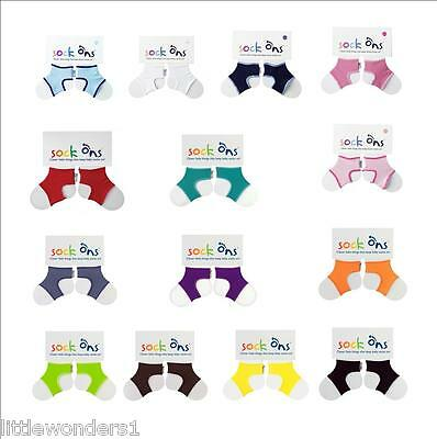2 Pack 0-6 Months Navy Sock Ons Classic