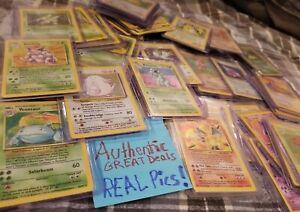 ORIGINAL-Pokemon-10-Card-Lot-100-Vintage-WOTC-1-RARE-OR-HOLO-STAR-Included