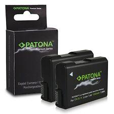 x2 batterie patona premium 1050 mah piu carica  per nikon D5100 D5200 D5300