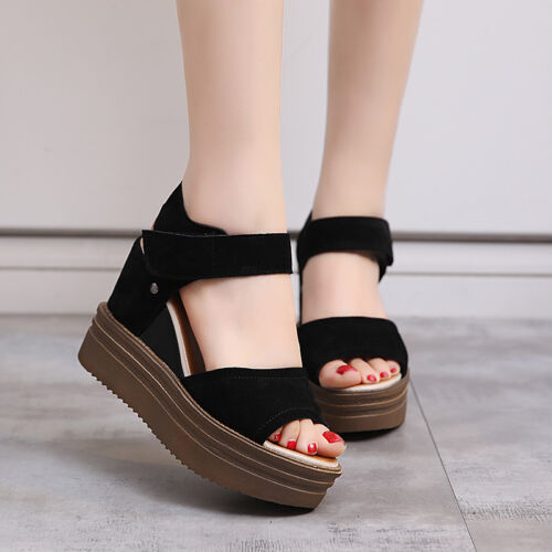New Women/'s Wedges Platforms Strappy Sandals Fashion Casual Stick Princess Shoes