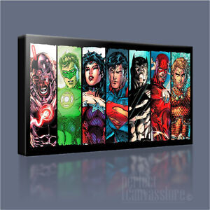 POP ART JUSTICE LEAGUE SAGA CANVAS PICTURES WALL ART PRINTS DC COMICS POSTERS