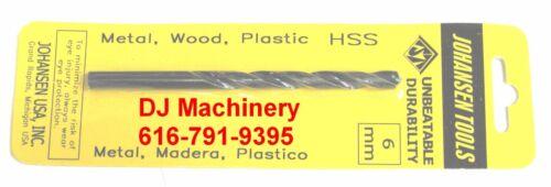 6mm 2 piece SET SHIPS FROM USA Jobbers Length Drill bits high speed steel hs hss