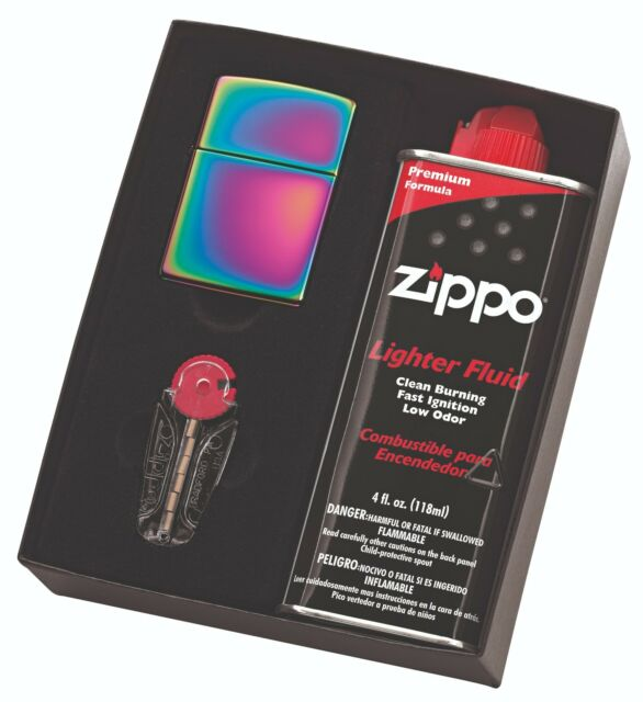 NEW Zippo 151 Spectrum Lighter with 125ml Fluids & Flints Gift Boxed Free Post
