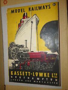 Model Railway Handbook By Bassett - Lowke Ltd 1935 Original, DernièRe Mode