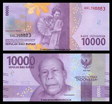 Indonesia 10000 (10,000) Rupiah 2016  P-New  New Design  UNC
