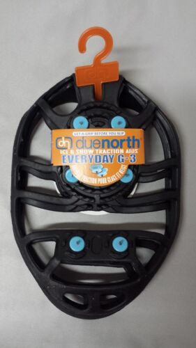 NEW Due North Everyday G-3 Snow//Ice Traction Aid Device For Shoes Small//Medium