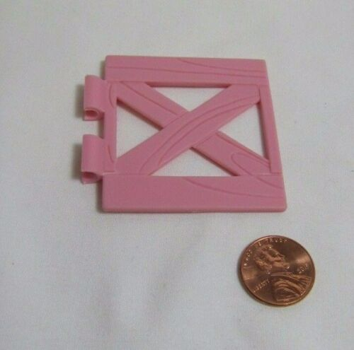 FISHER PRICE Loving Family Dollhouse PINK GATE for HORSE FENCE STABLE BARN