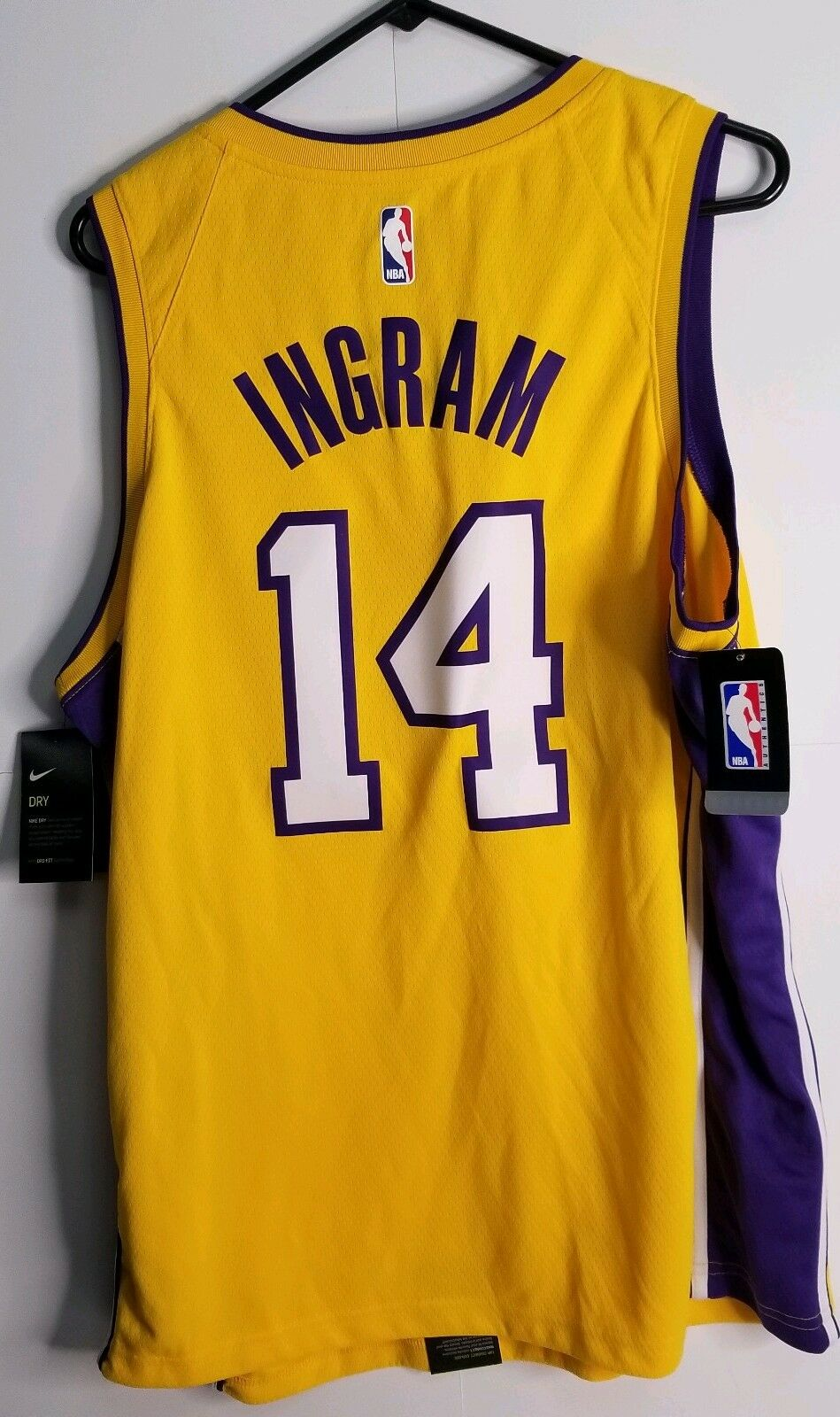 a82a4ee70 Nike NBA Los Angeles Lakers Brandon Ingram  14 Swingman Icon Edition ...
