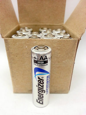 12 x Energizer AA L91 Ultimate Lithium Batteries Expires 2036