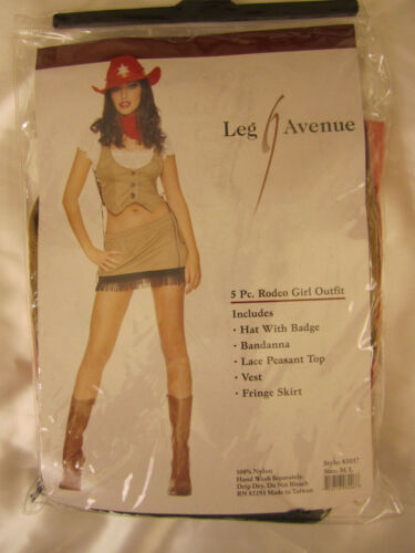 NEW in package Leg Avenue 83017 Rodeo Girl Outfit Costume Cowgirl  4pc