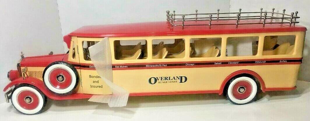Retro 1-2-3 Overland Stage Lines Bus