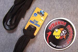 Brown-Thin-Flat-54-034-x-3-8-034-5-8-034-JN-Shoelaces-Shoe-Strings-Piranha-Records