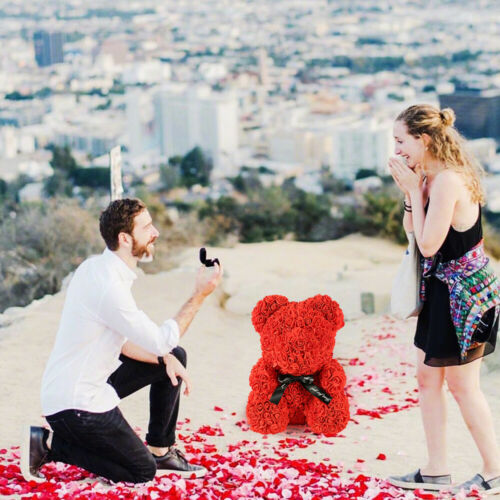 Rose Bear Teddy Bear Large Huge Luxury Foam Birthday Wedding Girl/'s Gift HMDUO