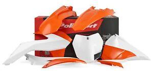 Polisport Kit Habillage Orange/Blanc Ktm SX 125 2T 2013-2015