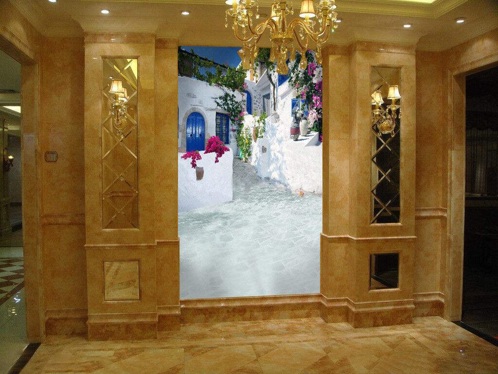 3D Weiß Street 564 Wallpaper Murals Wall Print Wall Mural AJ WALLPAPER UK Lemon