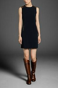 NEW-MASSIMO-DUTTI-Zara-Group-DRESS-WITH-LEATHER-SHOULDERS-TRIM-SIZES-XS-S-M-L