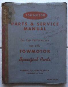 towmotor forklift parts service manual models lt50 lt56 ebay rh ebay com Towmotor Forklift Models 350 Towmotor Forklift Models 350