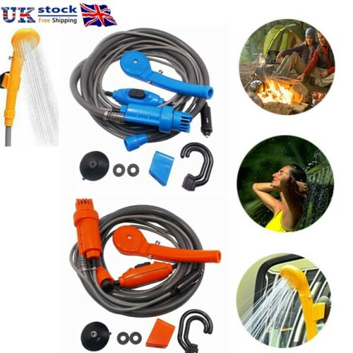 12V Camping Car Shower Spray Pump Kit Portable Outdoor Travel Hiking Clean Tool