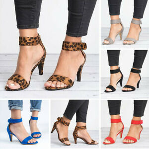 Summer-Ladies-Womens-Thin-High-Heels-Buckle-Ankle-Strap-Pumps-Sandals-Shoes-Size