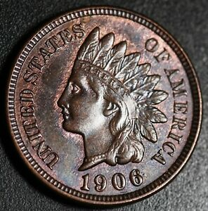 1906-INDIAN-HEAD-CENT-AU-BU-UNC-With-A-TOUCH-OF-MINT-LUSTER