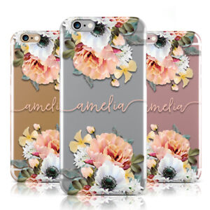 f27a5209ca Image is loading DYEFOR-PERSONALISED-NAME-CLEAR-FLORAL-PINK-PHONE-CASE-