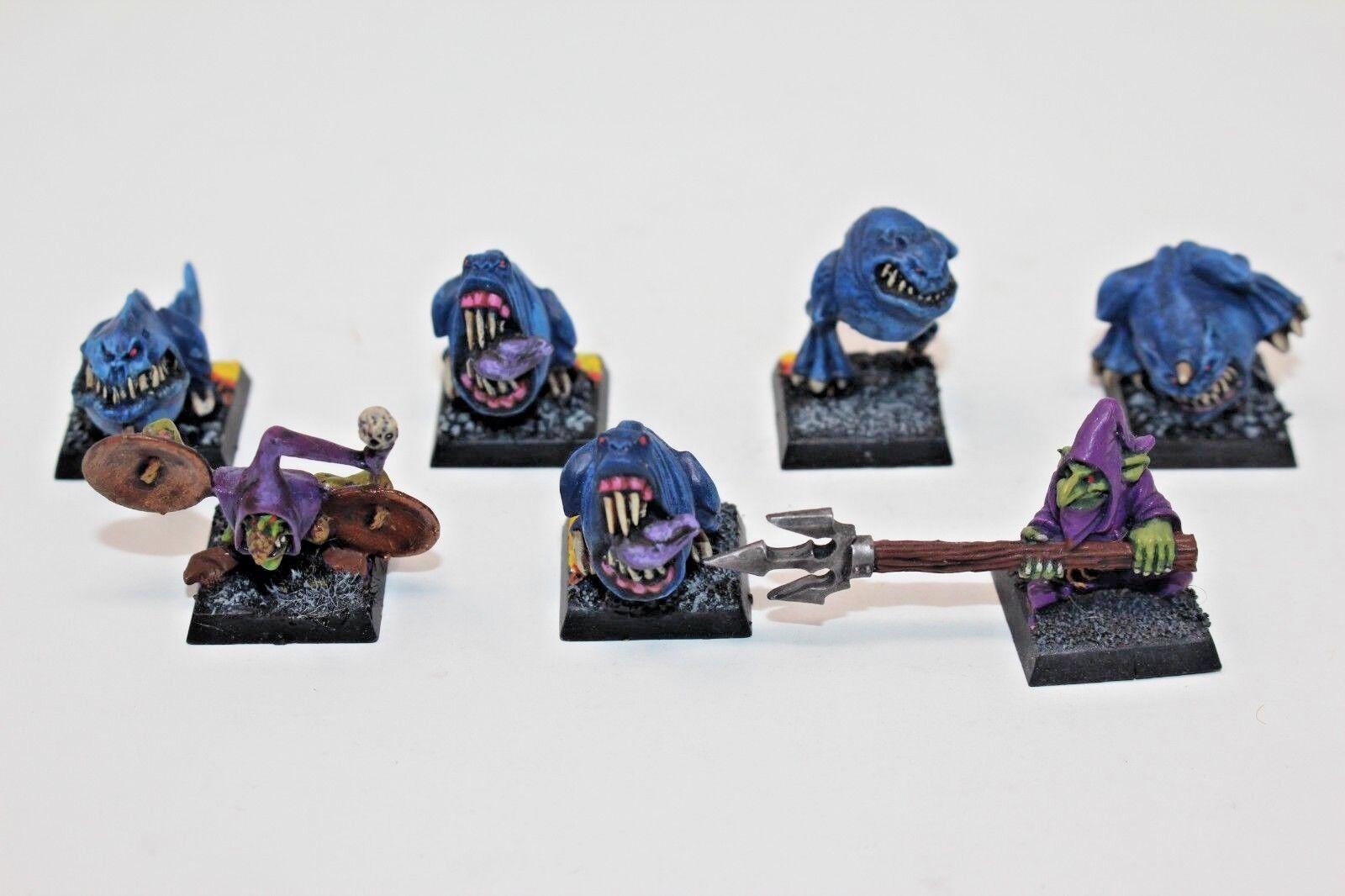 Warhammer Orcs e Goblins Squigs e Herders Metal  Well Painted - D1  benvenuto per ordinare