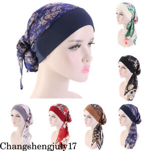 Womens-Muslim-Hijab-Cancer-Chemo-Hat-Turban-Cap-Cover-Hair-Loss-Head-Scarf-Wrap