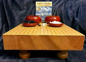 Korean-Thick-Wood-Baduk-Go-Game-Board-Goban-Carved-Wooden-Legs-Go-Ishi-Stones