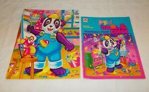 Vintage Lisa Frank Painter Panda 3 Hole Pocket & Folder Trace & Color Book