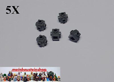 5X Lego® 4733 Konverter Steine 1X1 Noppen an 4 Seiten Weiß White NEU