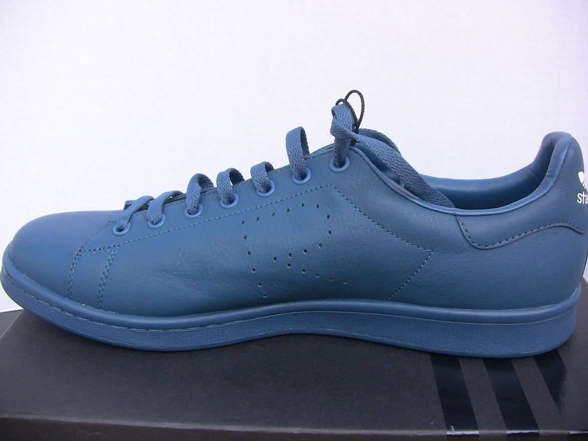 ADIDAS × RAF SIMONS Stan smith bluee leather sneakers aq2465 size US 8