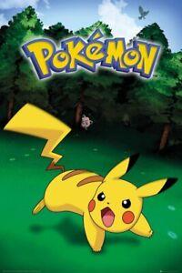 POKEMON-PIKACHU-CATCH-24x36-Cartoon-Anime-Pikachu-Pokemon