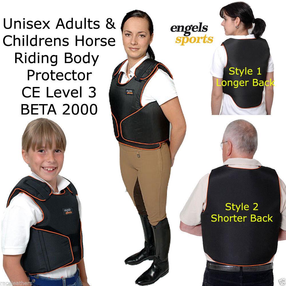Engels Giovani Equitazione Prossoezioni per il Corpo Bambini Salto Gilet XS