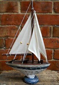 Wooden-Nautical-Sea-Sailboat-Boat-Ship-Model-HOME-DECORATION-40-cm-x-25-cm