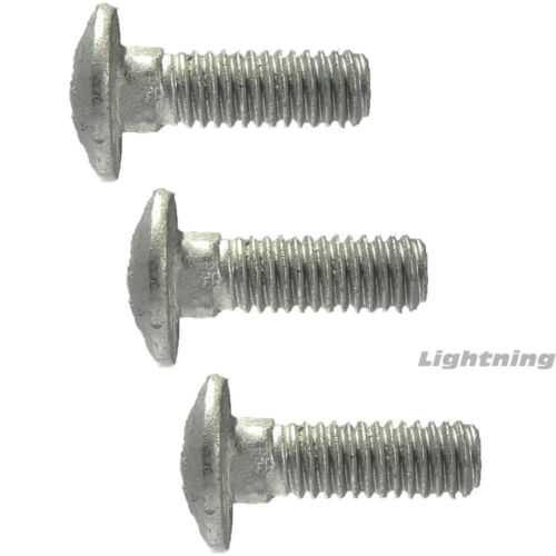 "3//8-16 x 14/"" Carriage Bolts and Nuts Hot Dip Galvanized Quantity 25"