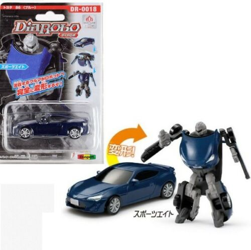 Transformers Robot Toyota 86 Sport Eight Blue Car DR-0018 Diarobo Diapet
