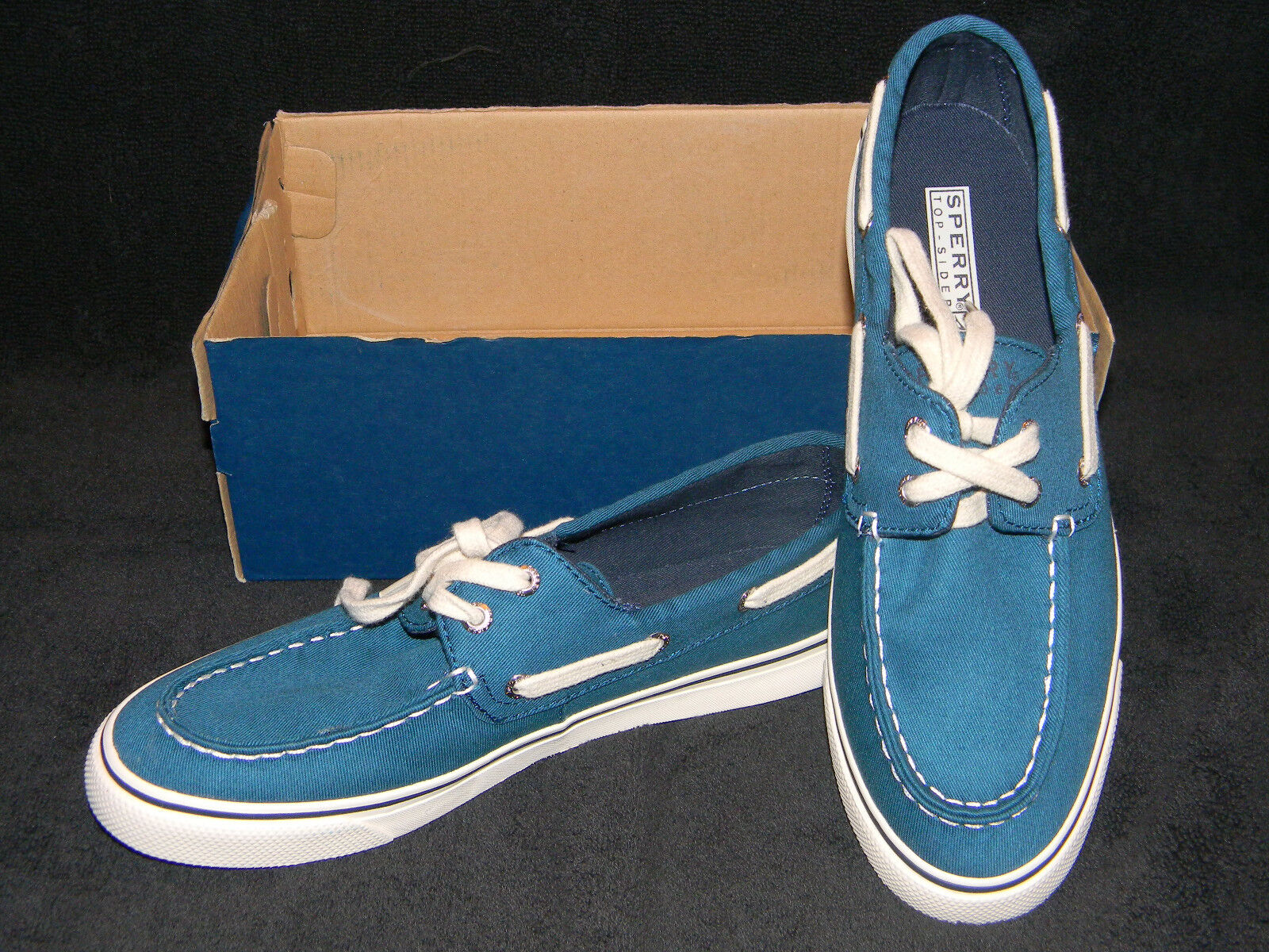New Sperry Women's Teal Biscayne Boat shoes-Size 7 Retail