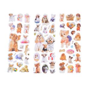3Sheets-Kawaii-Dogs-Animals-Scrapbooking-Bubble-Puffy-Sticker-Rewards-Kids-Toy-z