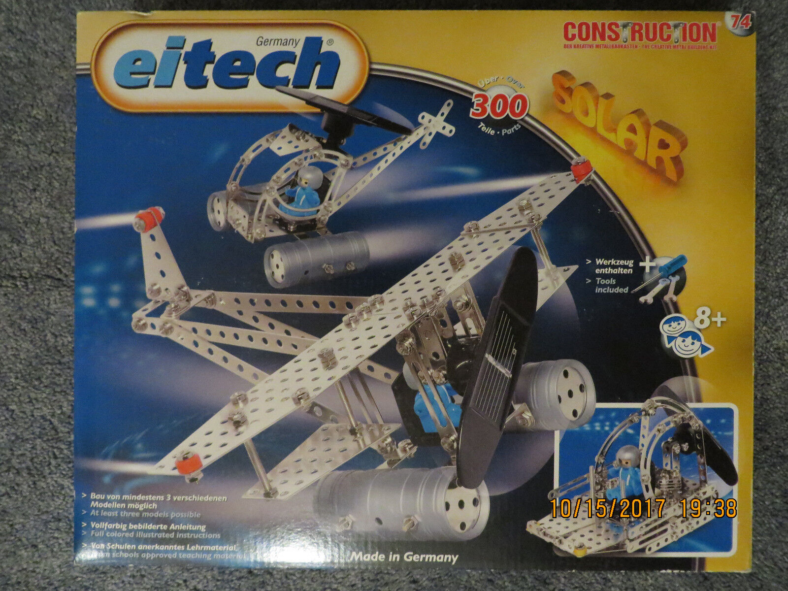 300 piece Eitech C74 solar powered construction set