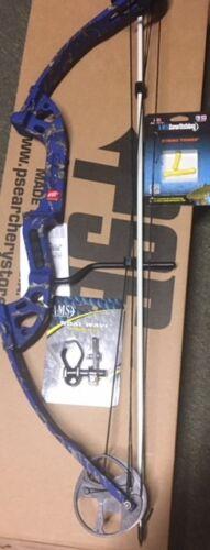 Bogenschieß-Artikel Weitere Sportarten PSE Discovery Bowfishing 30-40# RH BLUE with Fingertings,Rest,Arrow