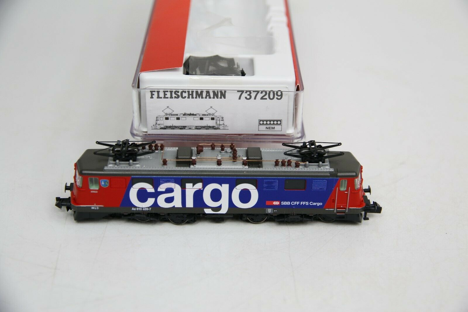 Fleischuomon Spur N 737209 ELok AE 610 4897 Airolo delle SBB autogo in scatola originale rc472