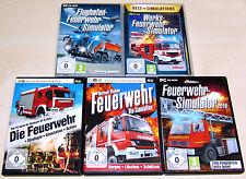 5 PC SPIELE SAMMLUNG - FEUERWEHR SIMULATOR - SIMULATION WERKS FLUGHAFEN 2010