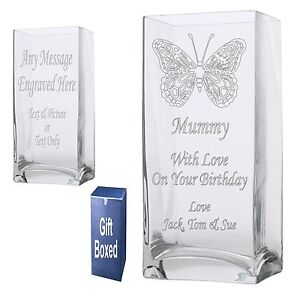 Engraved-22cm-Rectangle-Vase-Mum-Mummy-Granny-Nanna-Birthday-Gift-Present