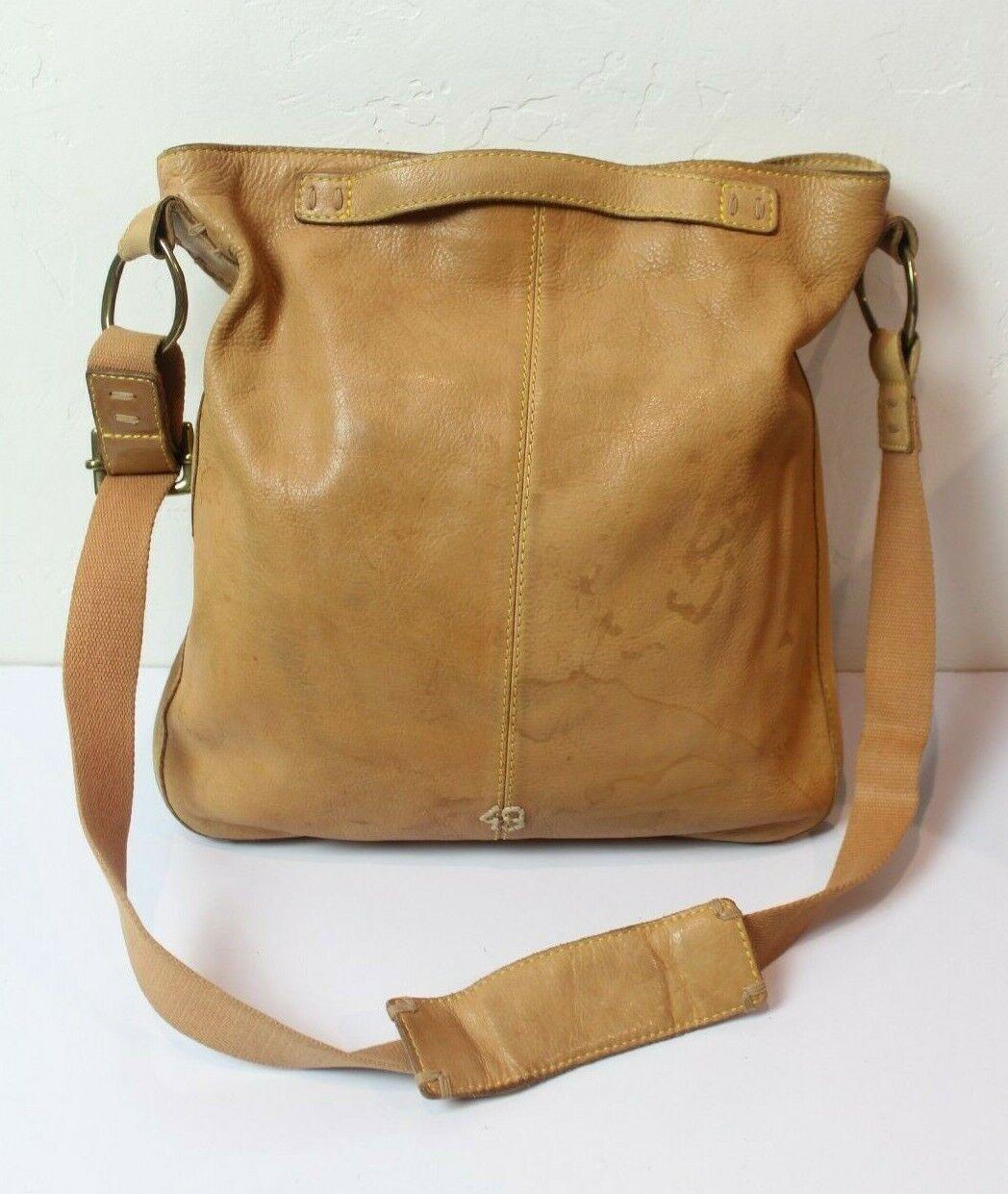 49 Square Miles Tan Leather Bag Hobo Large Bag - image 1